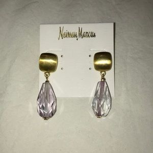 New! Gold & Lilac Kenneth Jay Lane Earrings